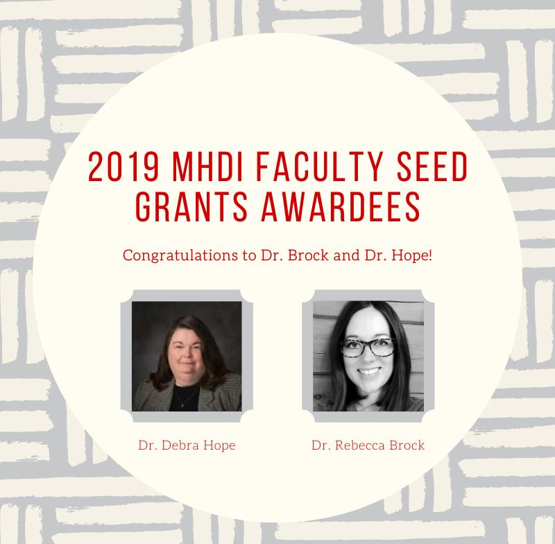 2019 Seed Grant Awardees